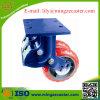 Echadores resistentes de la PU de la rueda del gemelo del resorte