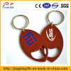 Oval su ordinazione Shape Metal Key Chain con Key Ring