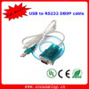 USB para RS232 Serial 9 Pin Adaptador de cabo Db9 PDA e GPS