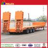 Niedriger Bett-Ladevorrichtungs-halb LKW-Schlussteil für Gerät 80tons