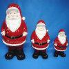 Decoración de Navidad de cerámica, Estatuilla de Santa Claus (decoración del hogar)