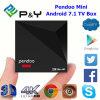 Trasferimento dal sistema centrale verso i satelliti libero di APP dell'ultimo contenitore di Android 7.1/Nougat TV il mini Kodi giocatore 17 Rk3328 1GB DDR3 8GB di Pendoo