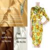 Tissu en soie estampé par Digitals de satin d'élasticité de 16mm pour Madame Office Garment
