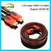 4k 2160p PS4를 위한 다채로운 PVC HDMI 케이블 2.0