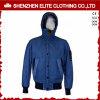 Синяя оптовая подгонянная куртка бомбардировщика с Hoody (ELTBJI-39)