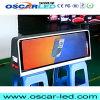 Visualización de LED lateral doble a todo color al aire libre de la tapa del taxi de P2.5 WiFi 3G GPS