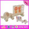 2016 giocattoli di legno all'ingrosso per i bambini, giocattoli di legno della nuova automobile per i bambini, impilanti i giocattoli di legno per i bambini W04A308