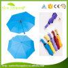 自動のためのカスタムカラー190t繭紬は3折る傘を近く開く