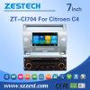 Fabbrica di Zestech un'automobile DVD GPS da 7 pollici per Citroen C4