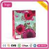 Do presente revestido cor-de-rosa da arte da borboleta da flor da forma saco de papel