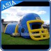 膨脹可能なヘルメットのスポーツのテント、膨脹可能なフットボール用ヘルメットのトンネル