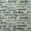 Tessuto del sofà di Decrotive della tappezzeria del velluto stampato lettera