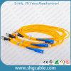 Одномодовый 9/125um Simplex FC/Upc-Sc/блок защиты и коммутации волоконно-оптический кабель питания исправлений