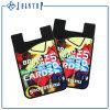 Portatarjetas adhesivo pegajoso de la caja del teléfono del silicón del regalo popular con el producto de limpieza de discos