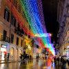 Indicatore luminoso di natale esterno del Rainbow LED per la decorazione del viale di festa
