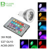 Spotlight RGB LED 3W E27 de luz MR16 GU10
