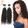사람의 모발 Malaysian 꼬부라진 곱슬 머리를 길쌈하는 중국 공장 직접 공급 #1b 자연적인 색깔 단단한 컬
