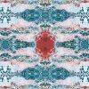 Сплетенный персик шерстей напечатал ткань для платья женщин (XF-043)