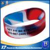 Wristband del silicone con colore di riempimento per il regalo di promozione