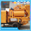 Bomba do misturador concreto do reboque com motor Diesel e o motor elétrico