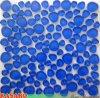 Pebble blu scuro Glass Mosaic Mesh Mounted Back 12X12 (KSL5516)