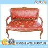 固体木の腰掛けの革赤い余暇のソファーの椅子
