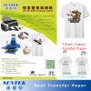 Papel de imprenta caliente del traspaso térmico del color ligero del rasgón para la camiseta