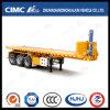Cimc Aanhangwagen Tippingsemi van de Container van Huajun 20FT 3axle Flatbed Achter
