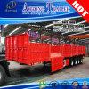 4半車軸80t平らな甲板積み貨物の容器のトラックのトレーラー