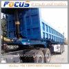 砂の土のローディングのための水圧シリンダの側板のダンプカーの貨物トラックのトレーラー