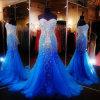Die Kristalle, die Abschlussball Wedding sind, bekleidet reales Foto-formale Abend-Kleider Z5070