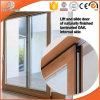 Porta deslizante com os obturadores automáticos Integrated, porta deslizante do elevador da madeira contínua do elevador de alumínio de madeira perfeito da casa de campo de América