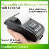 Charageable Portable USB Bluetooth WiFi Réception imprimante thermique