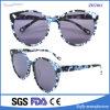 Gafas de sol italianas del acetato de la manera de las marcas de fábrica con el modelo de flor