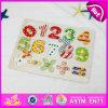 2015 Inteligente Crianças Madeira Aprenda Numero Quebra-cabeça Brinquedo, Brinquedos educativos de enigma de madeira, Cute Wooden Number Puzzle Puzzle Puzzle W14b062
