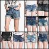 Леди Джинсы на складе брюки женщин джинсы (FF726-1)