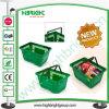 Paniers à provisions en plastique d'épicerie de pp pour le supermarché asiatique neuf