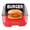 6개의 Prefolded 상자 햄버거 상자 (BB007)의 13cmx4cm 세트