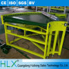 Adjustable SpeedのHlx PVC Belt Type Curved Conveyor