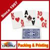 La tarjeta que juega impresa la insignia de encargo de papel, póker carda la impresión, tarjetas de juego para el anuncio