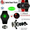 3G/l'écran Ronde WiFi Smart montre avec moniteur de fréquence cardiaque DM368