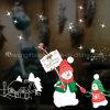 La charge statique amovible de film de guichet s'attachent collant, s'attachent des collants de Noël, collants de décoration de vinyle