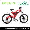 bicicletta elettrica piena della bici di montagna del blocco per grafici del carbonio della sospensione 500W