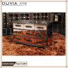 Diseño de estilo barroco clásico uno de dos puertas de madera Salón TV copa de vino Vitrinas