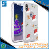 Раковина 3 телефона подарка рождества в 1 iPhone x аргументы за сотового телефона яркия блеска TPU