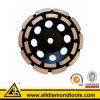 Roda de moedura concreta do copo do segmento dobro da fileira