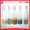 Bon marché de gros de boissons gazeuses en verre clair de la bouteille de stockage 1000ml pour le lait