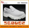 Sapatas de segurança brancas da sala de limpeza do couro da fibra