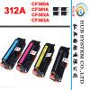 Nuevo cartucho de tóner de impresora HP 312A (CF380A, CF381A, CF382A, CF383A)