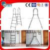 Escada bilateral pequena do aço inoxidável da piscina do PVC